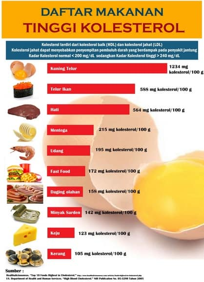 makanan tinggi kolesterol