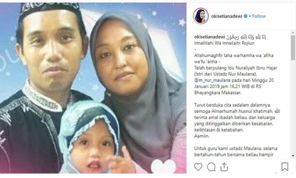 7 Tahun Terkena Kanker Usus, Perjuangan Istri Ustaz Maulana Harus Berakhir Pilu