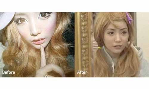 MakeUp Menempel 2 Tahun, Gadis 20 Tahun Ini Punya Kulit Seperti Wanita 40 Tahun